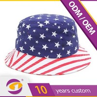 Buy Custom funny printed wholesale black white striped bucket caps ...
