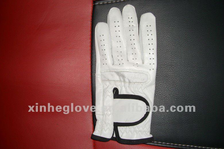 golf glove single style, best design; velcro