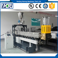 Mini Waste EVA Film Plastic Granules Making Machine/Two Extruder PVC Flakes Recycling Granulator