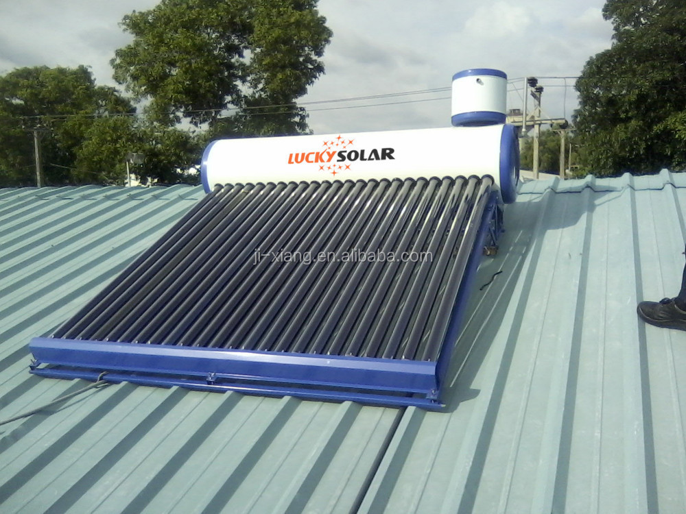 Direct Plug Compact Non Pressure Solar Water Heater 240L with auxiliary tank