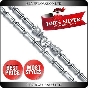 High Quality Italian Mens Heavy Sterling Silver Ball Chain Necklace