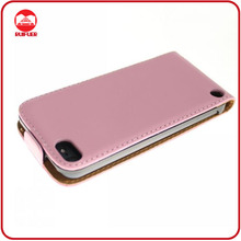 High Quality Funky Pink Protective 100% Real Genuine Leather Flip Cases for Ipod Touch 5