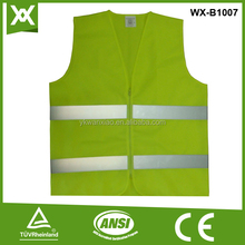 EN471 class 2 deluxe High Visibility Safety Vest with Reflective Strips