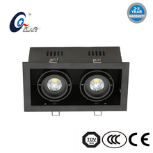 clothing stores grill recessed light 3*7W 3*9W 3*12W 21W 27W 36W led housing square led downlight Three head grille lamp