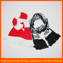 hotselling custom colorful newest football team scarf for 2012 euro cup