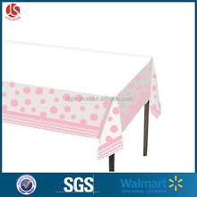 Factory manufacture disposable printing party wedding restaurant PE table cloth