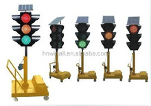 Solar Mobile / Portable traffic signal light, LED traffic signals lamps