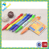 colorful promotional custom logo printed pull out retractable banner pen