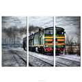 Retro Style Stream Train Photo Canvas Wall Art HD Canvas Hanging Decor Home Wall Decoration Framed and Stretched Wholesale