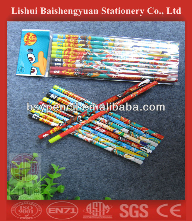 cartoon/animal printing/carving wooden pencils