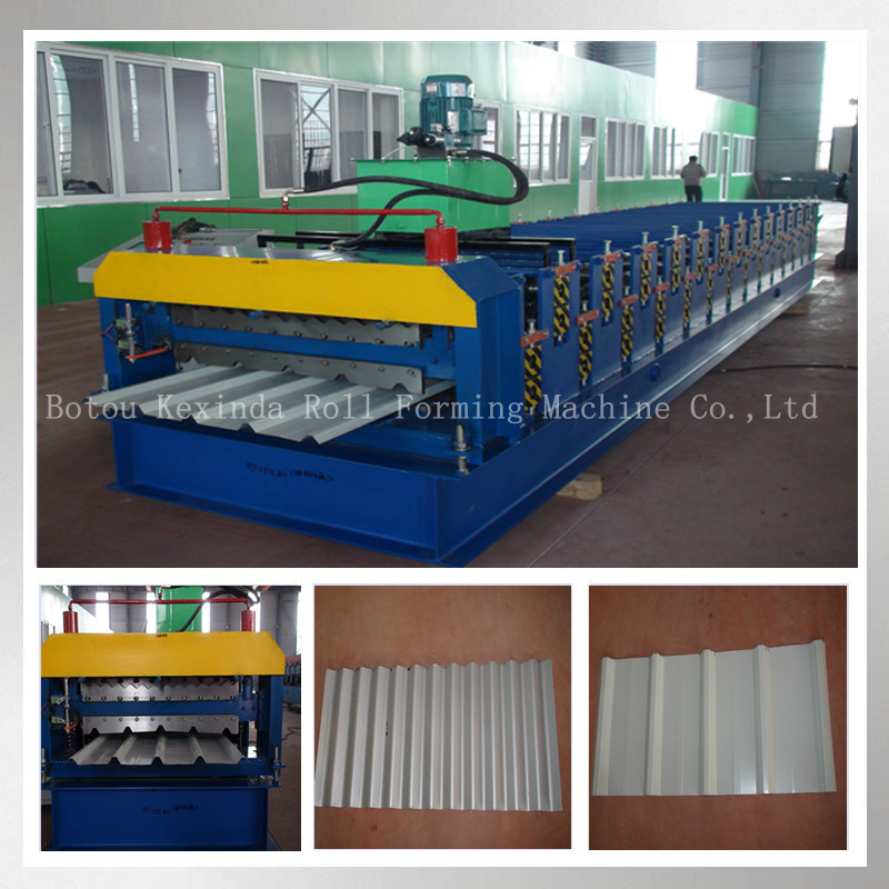 Metal roofing hydraulic shear with clutch on the double layer roll forming equipments/double decking roll forming machine