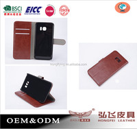 Genuine Leather cover for Samsung Galaxy S7 BSCI factory