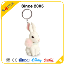 Soft plastic pvc material 3D keychain, promotional animal keyring for gift