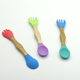 2018 Wo Silicone Factory Direct-sale High Quality Small Kitchen Wooden Spoon