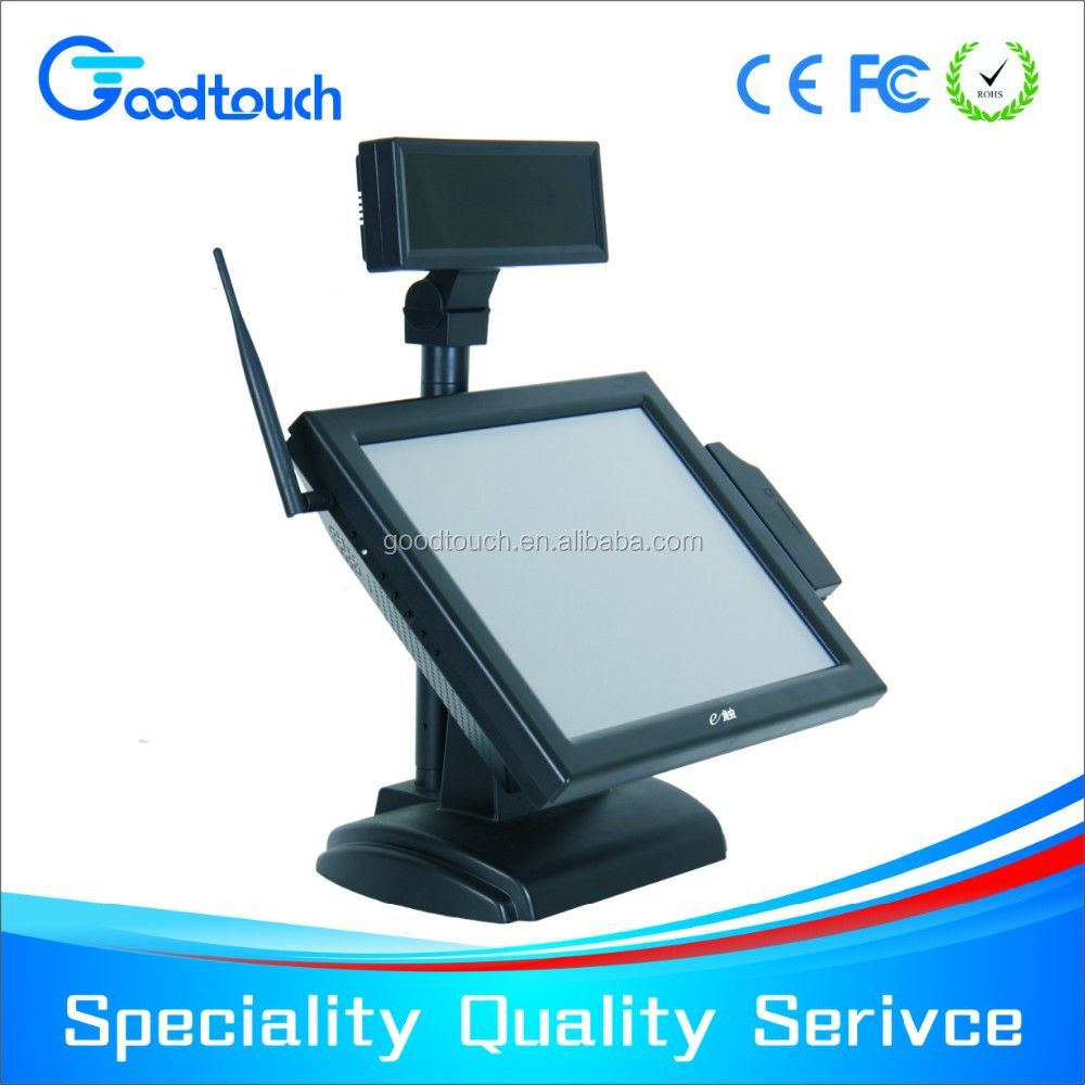 certificated 15 inch touch screen order system restaurant, touch screen restaurant menu, touch pos system