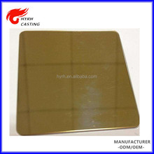 Grade 201/304/316l gold mirror polish stainless steel sheet