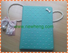 ultra thin Bling Diamante pu Leather Case for iPad 5
