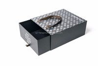 Black pull out shoes cardboard box carry handle