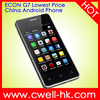 ECON G7 4 inch MTK6515 Android 4.4.2 Lowest Price China Andriod Phone with 3 Colors