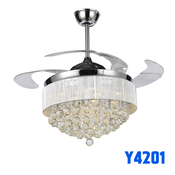 42 Inch Best National Crystal Led Light Ceiling Fan Brand