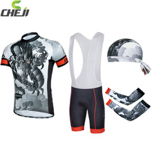 Best Pric 2014 Cheji Cycling Clothing short sleeve jersey bib shorts set wholesale Quick Dry mens Outdoor Sports wear Group sets