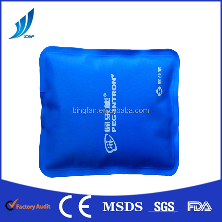 Gel Nylon+PVC material reusable hot cold pack pain relief pack for hot cold therapy