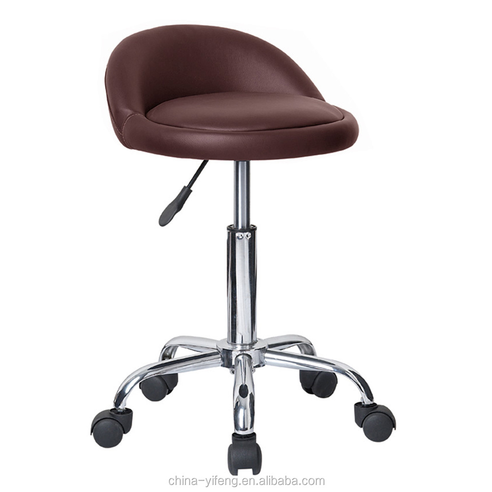 ROLLING ADJUSTABLE SWIVEL STOOL - BAR TABLE CHAIR W/WHEELS -MASSAGE/TATTOO