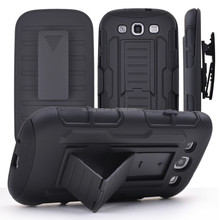Customized Armor Case For Samsung Galaxy S3/S4/S5/S6/S6 Edge Case Belt Clip With Holster Stand 3 in 1