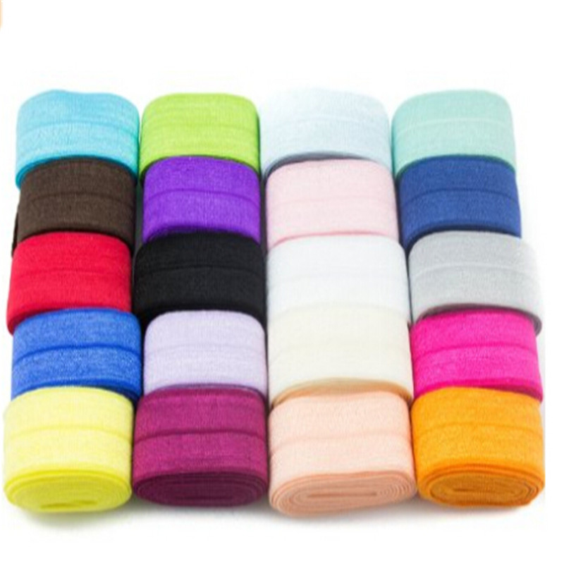Variety Color Customized Elastic Stretch Foldover FOE Elastics for Hair for women