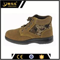buffalo leather brown or camel safety shoes