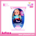 Sweet fashion 14 inch vinyl soft plastic baby doll with 12 IC and gift box.