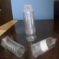transparent cylinder telescopic plastic tube packaging