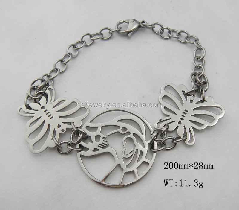 SSB0116 China Manufacture surgical Stainless Steel women Bracelet