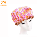 Waterproof Polyester shower cap for women