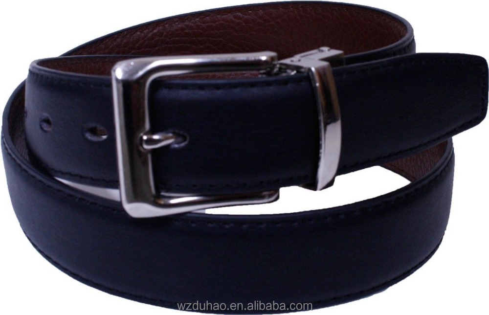 Men's Causal Black/Brown Removeable Cow Leather Belt Turn Buckle Faux Leather Strap