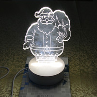 Looking For Indian Agents LED Christmas Gift 3D Prints Led Light Nightlight USB Bedside Lamp With Package Wholesale 5 Cartons