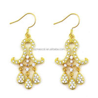 Latest Design Middle East Style Gold Plated Cheap Chandelier Earrings