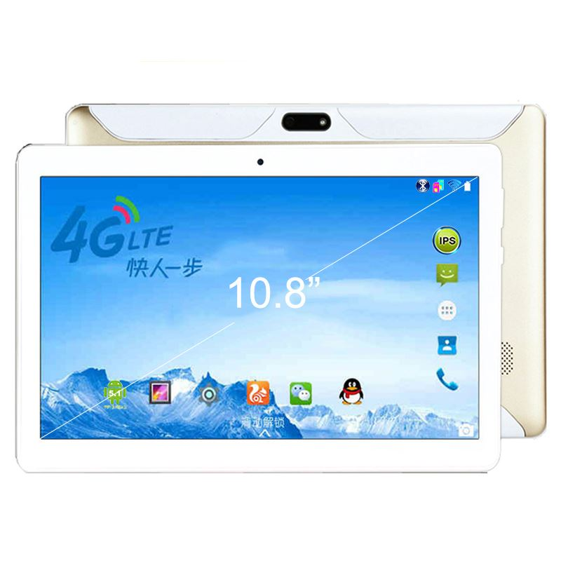 10.6 Inch 4G LTE 3G WCDMA 2G GSM tablet PC 1366*768 MT8735 Quad Core 5.0MP 2GB 16GB Tablet GPS Bluetooth Android 5.1 Tablet 10