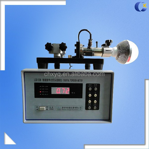 Lamp Cap Torsion Testing Instrument for The Measurement of Lamp Cap Torque Force Test