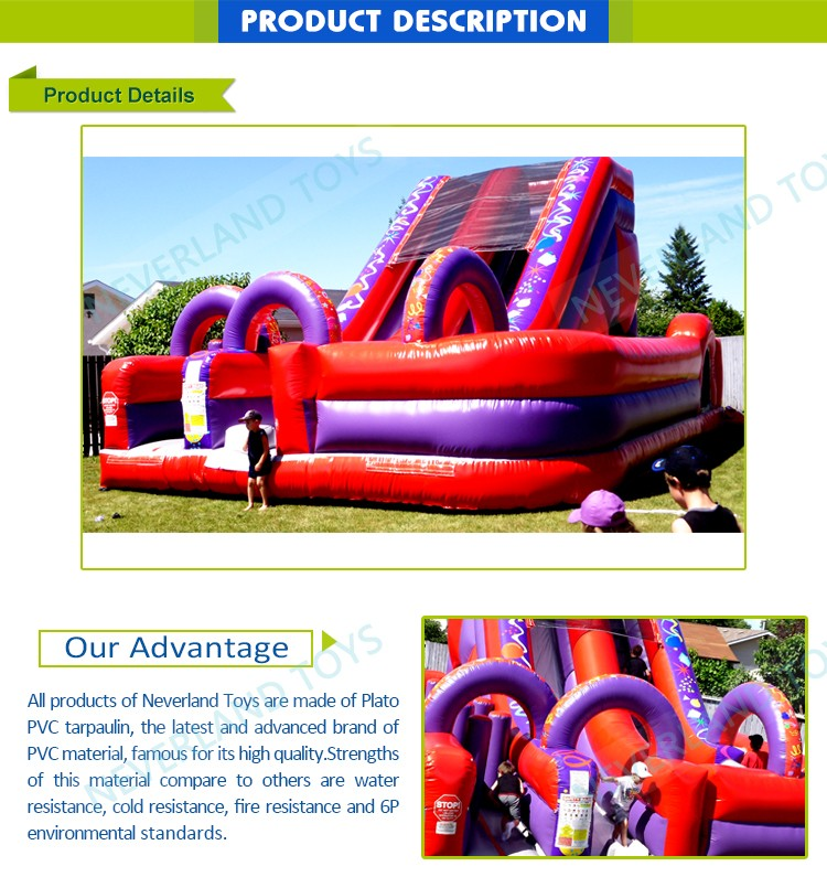 Colorful Entertainment Adult Inflatable Obstacle Course Bouncy Castle Commercial