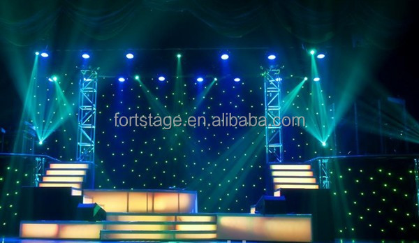 LED sky star curtain cloth /LED star drape for events background