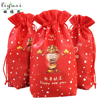 Recycled Small Nonwoven Drawstring Gift Bag for Promotion and Candy
