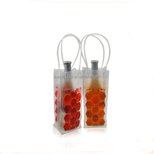 Standard portable PVC gel ice wine/beer chiller bag for promotion