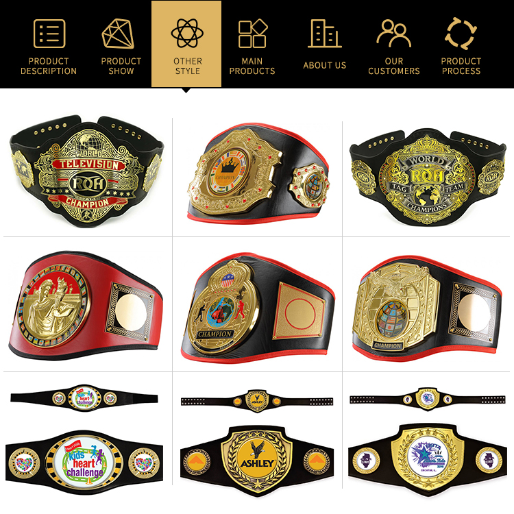 China Manufacturer UFC Custom Championship Belts