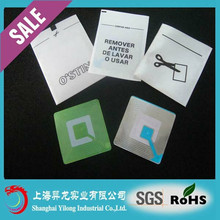 Uhf Passive Adhesive Labels Alarm Rf Label for Shoes and hats