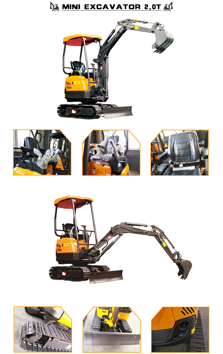 1.8 Ton Chinese Small Digger Loader Mini Small Excavator For Garden