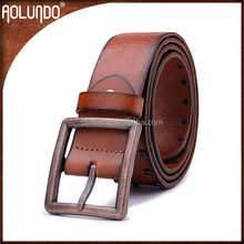 Fashion style with rivet 100% real leather belt