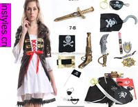 2015 adult Pirate Lady New Fancy Dress Costume Carribean Ladies Womens Female pirate Costume