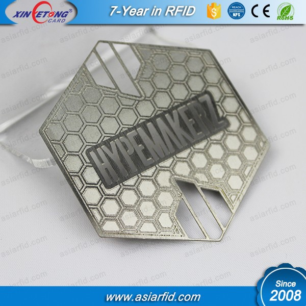 OEM personalized brushed finish metal business card, stainless steel card with laser engraving, China manufacturer