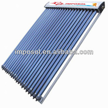 Swimming pool heat pipe solar collector/solar energy system with solar keymark